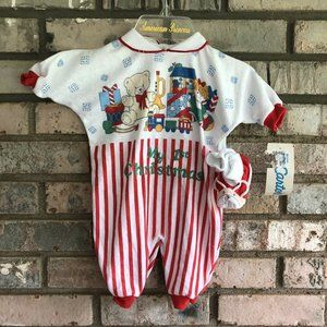 New Vintage Carter's My First Christmas Sleeper